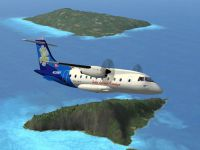 Screenshot of Inter Island Air Dornier Do328 in flight.
