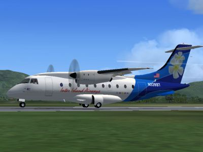 Screenshot of Inter Island Air Dornier Do328 on the ground.