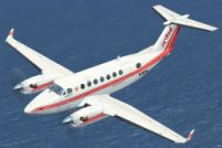 Screenshot of JetRed Airlines Beechcraft King Air 350 in flight.