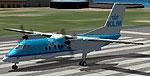 Screenshot of KLM DeHavilland Dash 8-100 on runway.