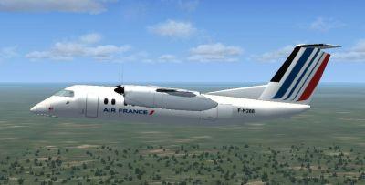 Screenshot of KLM DeHavilland Dash 8-100 in flight.