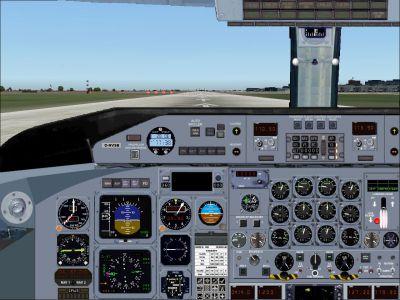 Screenshot of KLM DeHavilland Dash 8 panel.
