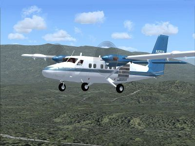 Screenshot of Kapowsin Air Sports DeHavilland DHC6-100 in flight.