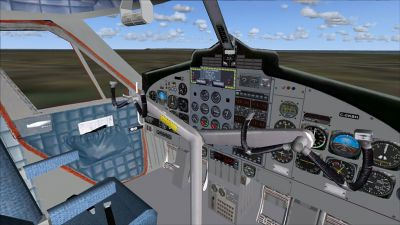 Virtual cockpit of Kenn Borek DHC-6-300 Twin Otter.