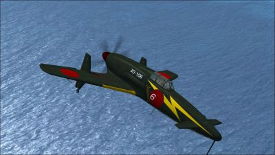 Screenshot of Kyushu J7W1 Shinden 1946 (3D-106) in flight.