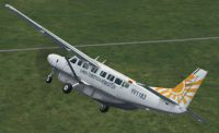 Screenshot of LTA Aereotuy Cessna 208B in flight.