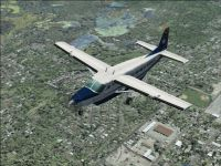 Screenshot of Linear Air Cessna 208 in flight.