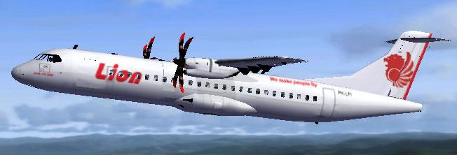 Lion Air Indonesia ATR 72-500 for FSX