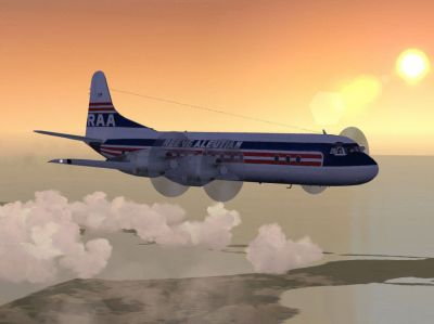 Screenshot of Lockheed L-188 Electra in flight.