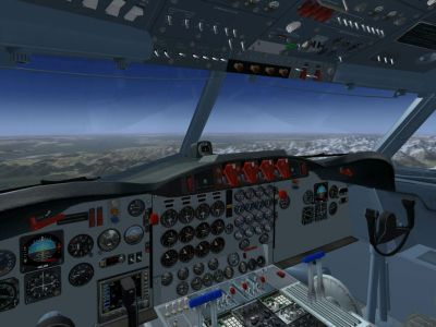 Screenshot of Lockheed L-188 Electra cockpit.