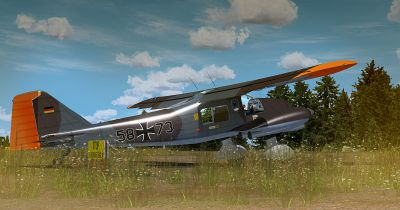 Screenshot of Luftwaffe Dornier Do 28 A on the ground.
