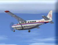Screenshot of MAF Cessna 208B in flight.