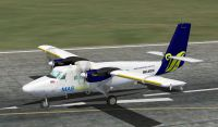 Screenshot of MASwings DeHavilland Twin Otter on runway.
