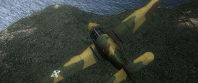 Screenshot of Messerschmitt BF 108 S-07 in flight.