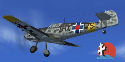 Screenshot of Messerschmitt BF 109 (D-IXWS) in flight.