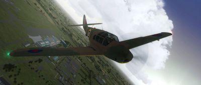 Screenshot of Messerschmitt Bf108 Aldon DK280 in flight.