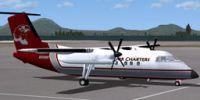 Screenshot of Misty Air Dash 8 Q102 on the ground.