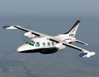 Screenshot of Mitsubishi MU-2 Marquise 321 in flight.