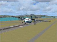 Screenshot of plane taking of from Nagasaki Airport.