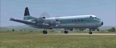 Screenshot of New Zealand Lockheed L188 on the ground.
