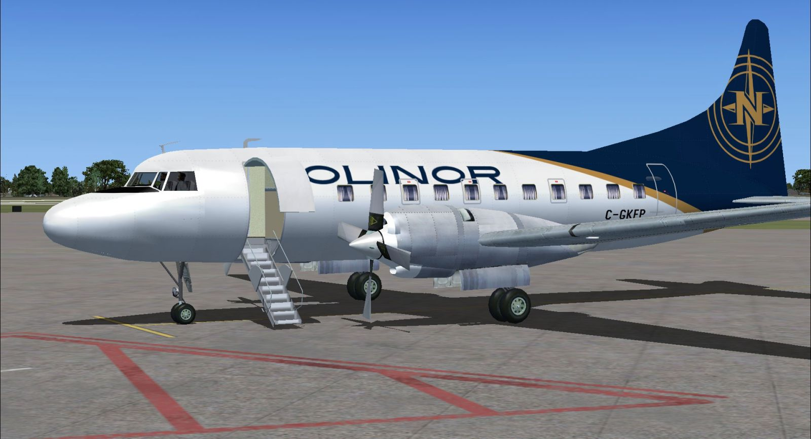 nolinor convair 580 for fsx