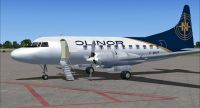 Screenshot of Nolinor-Convair-580-fsx2 on the ground (left side).