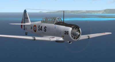 Screenshot of North American AT-6 in flight.