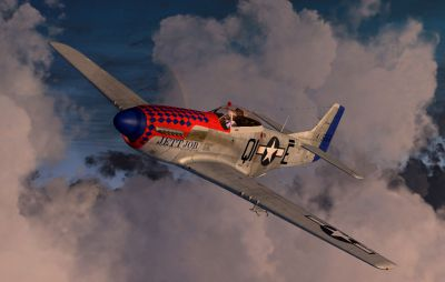 Screenshot of P-51D 'Jett' in flight.