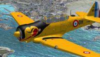 Screenshot of North American T-6 in flight.