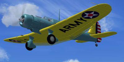 Screenshot of Northrop A-17 in flight.