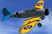 Screenshot of Northrop BT-1 Dive Bomber in flight.