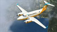 Screenshot of Orbit Airlines Beech King Air 350 in flight.