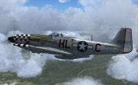 Screenshot of P-51D 'Small Boy Here' in flight.