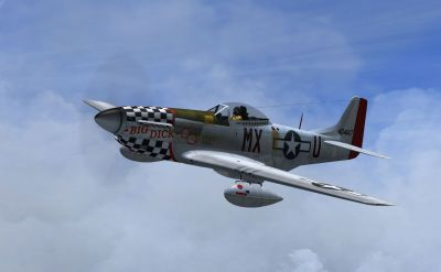 Screenshot of P-51D 78th FG Duxford 1945 in flight.