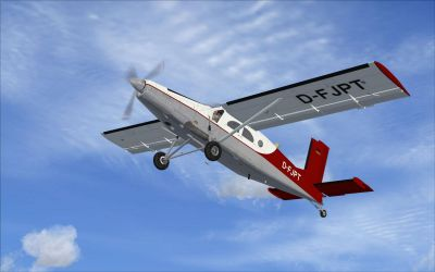 Screenshot of PC-6C-H2  in flight.