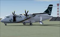 Screenshot of PIA Cargo ATR 42-500F on the ground.