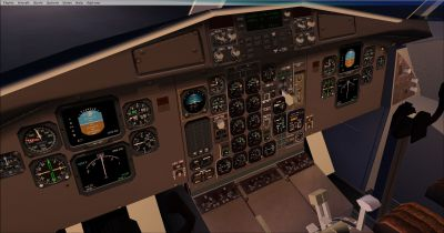 Virtual cockpit of PIA Cargo ATR 42-500F.