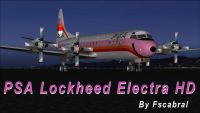 Screenshot of PSA Pink Lockheed L-188 Electra on the ground.