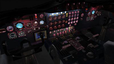 Virtual cockpit of PSA Pink Lockheed L-188 Electra.