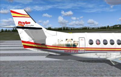 Screenshot of the PenAir BAe Jetstream 41 tail.