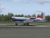 Screenshot of Pilatus PC7 CEV AH on runway.