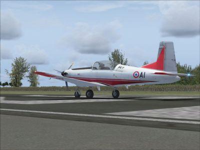 Screenshot of Pilatus PC7 CEV AI on runway.