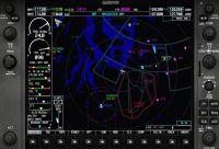 Screenshot of PoMans Meridian G1000 radar traffic upgrade.