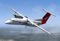Screenshot of Qantas Link DeHavilland Dash 8-102 in flight.
