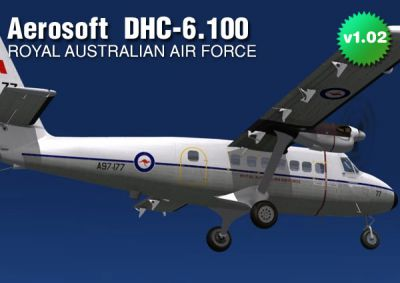 Screenshot of RAAF DHC-6 Srs100 in flight.