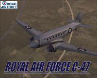 Screenshot of RAF VIP Transport Douglas DC-3 in flight.