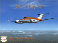 Screenshot of RSDG King Air 350 in flight.