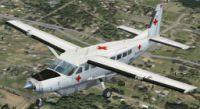 Screenshot of Red Cross Cessna 208B Grand Caravan in flight.
