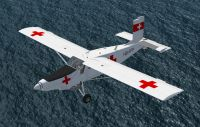 Screenshot of Red Cross Pilatus PC-6C_H2 Porter in flight.