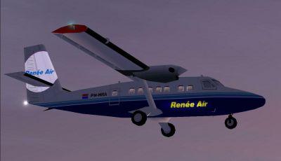 Screenshot of Renee Air DeHavilland DHC-6 in flight.